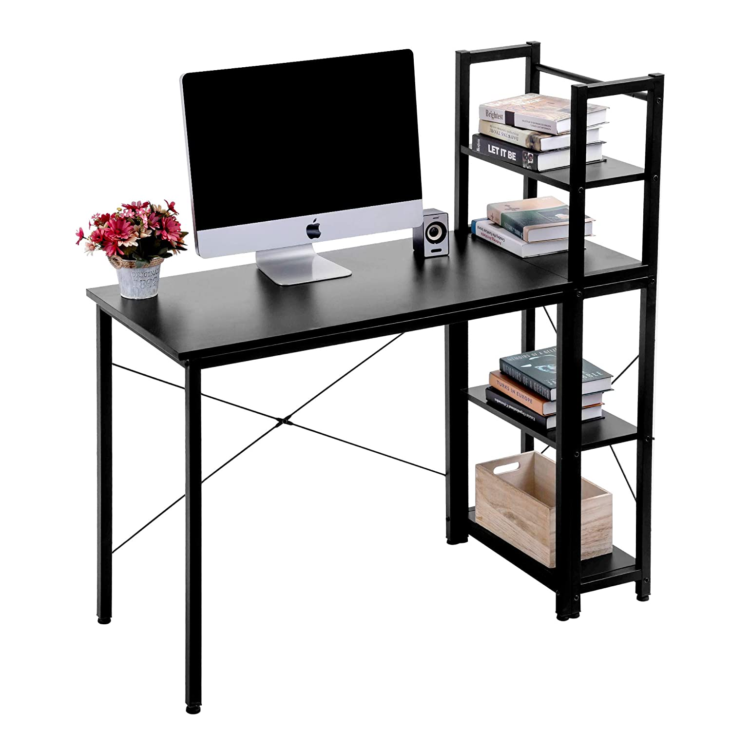 Groovy Amazon Com Computer Desk Home Office Desk With Shelves Download Free Architecture Designs Pushbritishbridgeorg