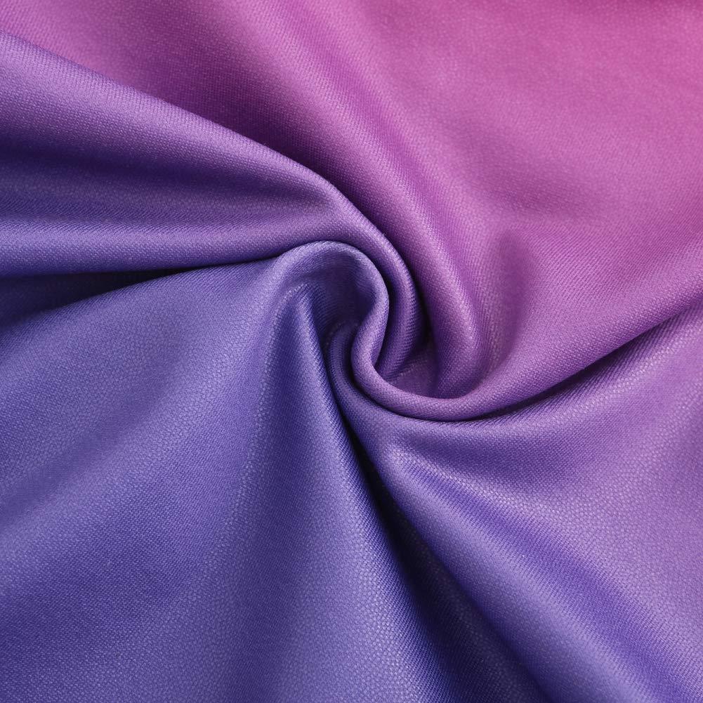 Fedi Apparel Two Color Shift Racerback Sleeveless Gymnastics Leotards for Girls 5-14 Blue