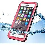 KYOKA iPhone7ケース 防水ケース 指紋認証対応 防水 防塵 耐震 耐衝撃 IP68 アイフォン7ケース 防水カバー (iPhone7, ピンク)