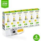 Pack of 6 - G9 LED 3W COB, ANGGE Bulb Crystal Spotlight Bulb Lamp Dimmable Warm White Silicone A 360 degree Illumination Energy Saving Halogen Light Bulb Replacement [Energy Class A+] - (Warm White)
