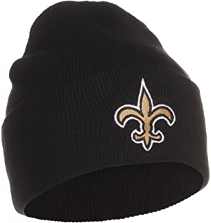 c0140c258 NFL Official Licensed New Orleans Saints Beanie Knit Hat CAP Classic Black  with Saints Emblem