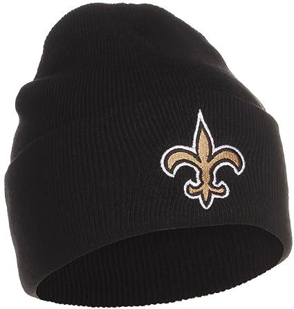 7d9381ac61f Amazon.com   NFL Official Licensed New Orleans Saints Beanie Knit Hat CAP  Classic Black with Saints Emblem   Sports Fan Beanies   Sports   Outdoors
