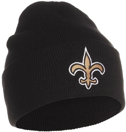 2a790bbb6f4350 Amazon.com : NFL Official Licensed New Orleans Saints Beanie Knit Hat CAP  Classic Black with Saints Emblem : Sports Fan Beanies : Clothing