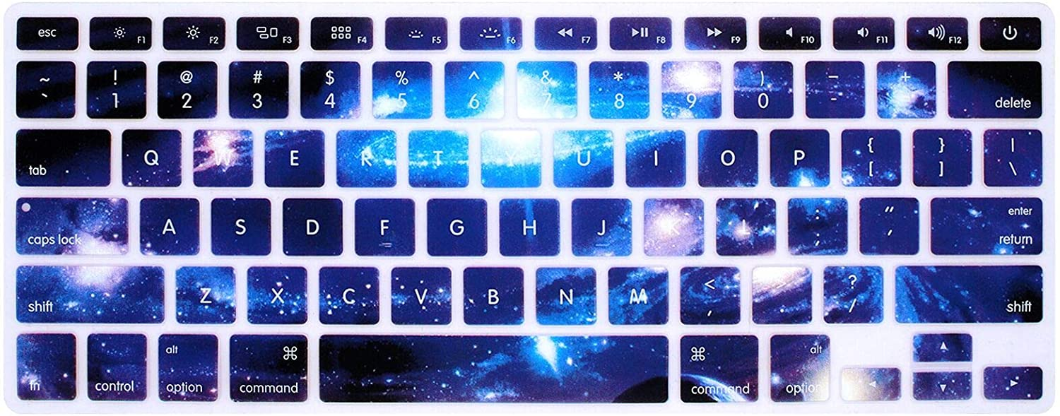 Apple Laptop 13-inch Galaxy Series Keyboard Film Protective Cover 13-inch Keyboard Cover and Silicone Keyboard Protective Film Picture Color 4