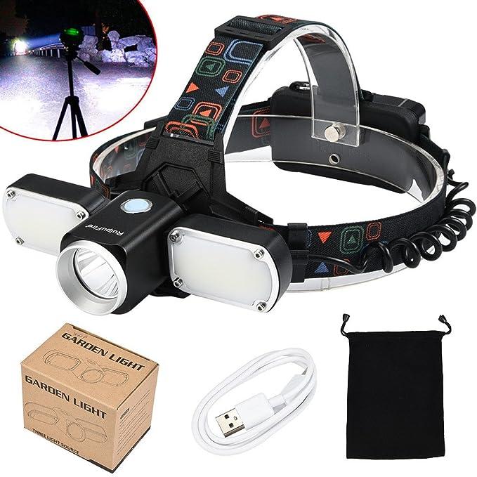 Amazon.com: SHUDAGE Emergency Outdoor Flashlights ღ 5000LM XM-L T6 +2 LED Adjustable headlamp Headlight Travel Head Torch Set Black: Clothing