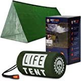 Go Time Gear Life Tent Emergency Survival Shelter – 2 Person Emergency Tent – Use As Survival Tent, Emergency Shelter…
