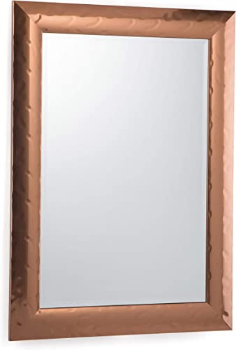 Simpli Home Athena 44 inch x 31 inch Rectangle Transitional D cor Mirror in Copper