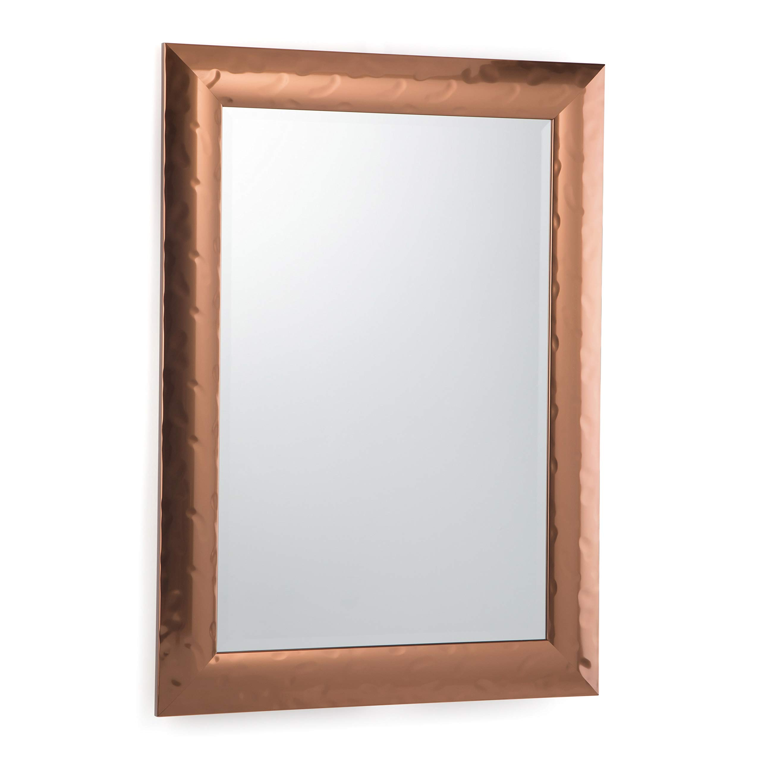 Simpli Home AXCMATH-4432 Athena 42 inch x 30 inch Rectangular Transitional Décor Mirror in Copper