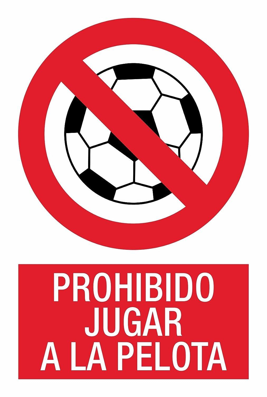 Cartel Resistente PVC - PROHIBIDO JUGAR A LA PELOTA - Señaletica ...