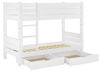 Etagenbett Weiß 90x200 : Erst holz® massivholz etagenbett weiß 90x200 nische 80cm teilbar