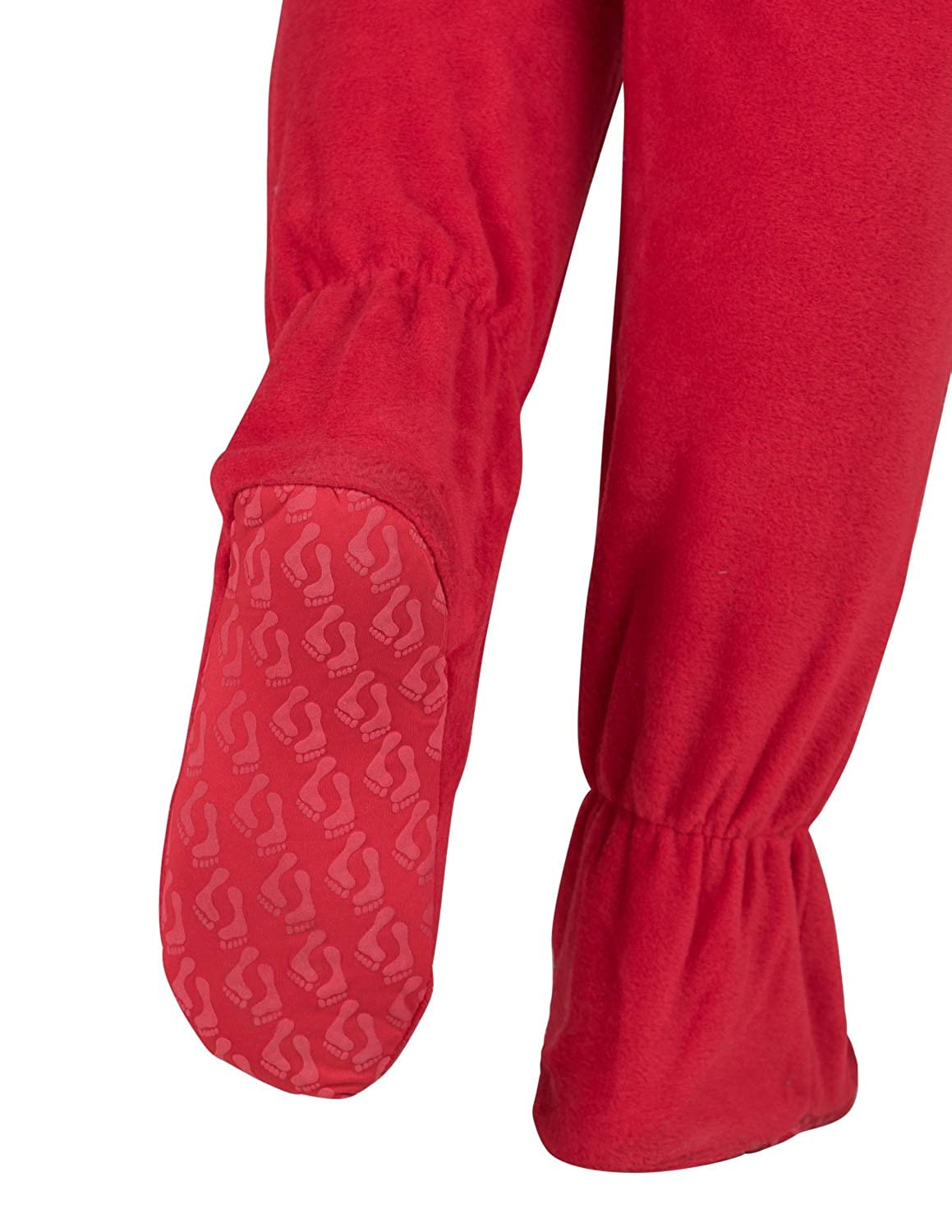 58765babb787 Footed Pajamas Bright Red Toddler Fleece - fashioncare.in