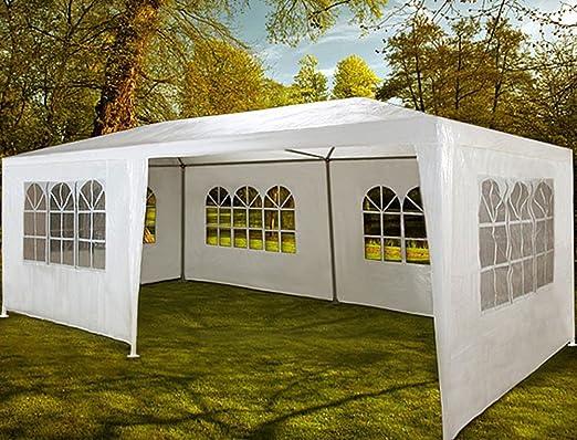 vetrineinrete® Carpa para fiestas y Party 2, 5 x 6 metros Pérgola para eventos cerrado con ventanas decorativas para exterior jardín Camping sagre blanco: Amazon.es: Jardín