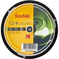 Kodak CD-R Kodak CD-R 700MB 52x Spindle 10 Pack, (580176)