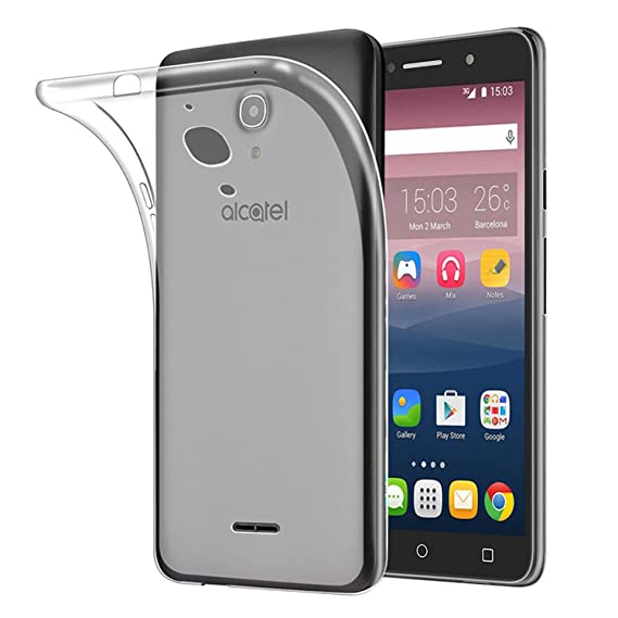 free shipping a9df7 9d34c Tektide Alcatel Pixi 4 6 inch 4G LTE Case, [Invisible Armor] Transluscent,  Anti Slip Matte Finish, Drop Protection TPU Rubber Bumper Case/Back Cover
