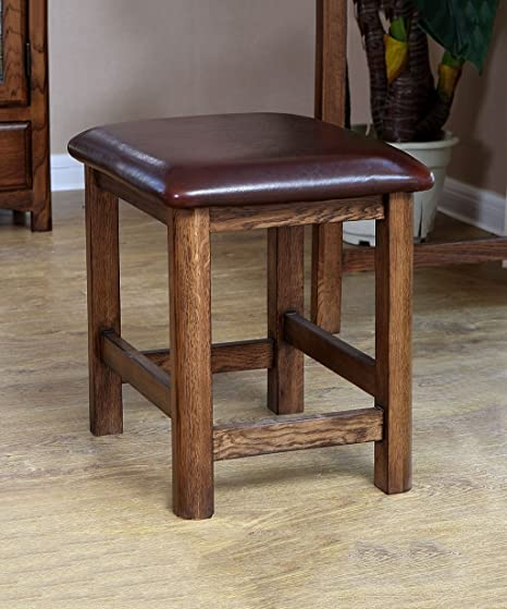 WUFENG Portable Retro White Ash wood Stool Multifunction Small Bench ...