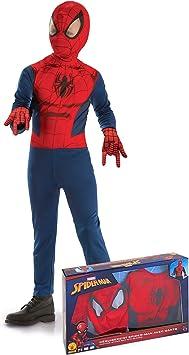 Generique - Disfraz clásico Spiderman con Guantes niño en Caja 3 ...