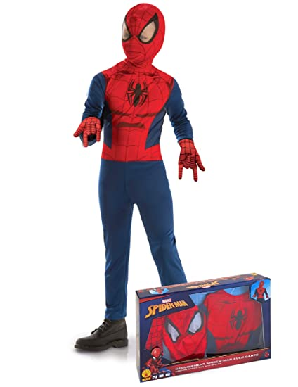 Generique - Disfraz clásico Spiderman con Guantes niño en Caja 3 a ...