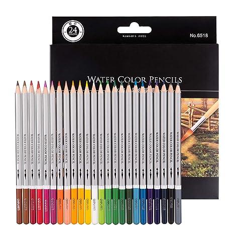 matite colorate  Morcoo 24 Matite Colorate Acquerellabili per disegnare Libri da ...