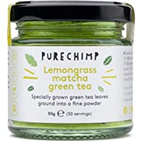 Matcha Green Tea Powder 50g(1.75oz) by PureChimp | Ceremonial Grade from Japan | Pesticide-Free | Recyclable Glass Jars…