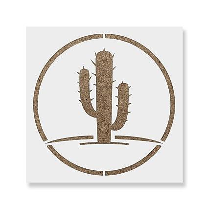 amazon com cactus stencil template reusable stencil with multiple