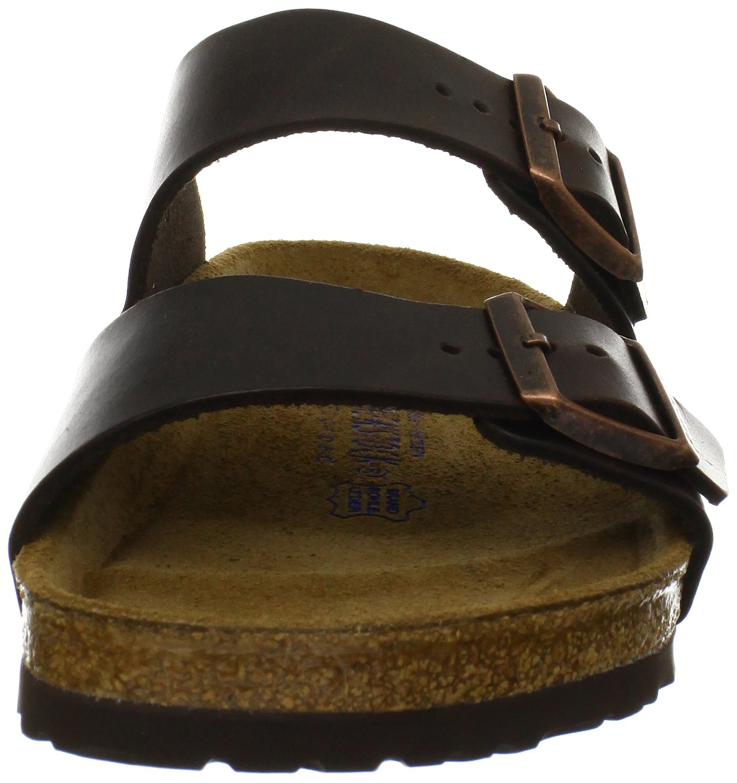 Birkenstock Unisex Arizona Brown Amalfi Leather Sandals - 39 M EU / 8-8.5 B(M) US by Birkenstock (Image #4)