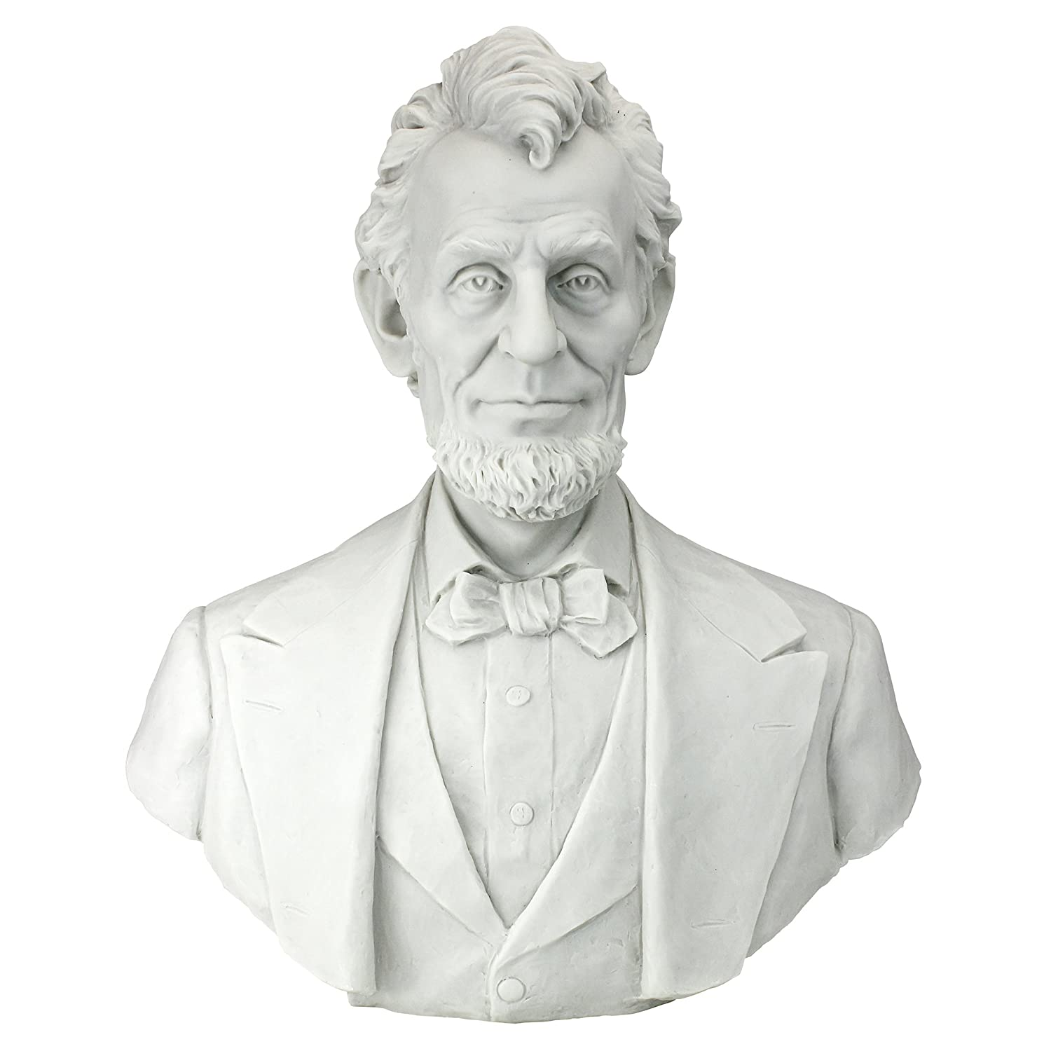Design Toscano Abraham Lincoln Memorial Bust Bonded Marble Resin Statue WU76083