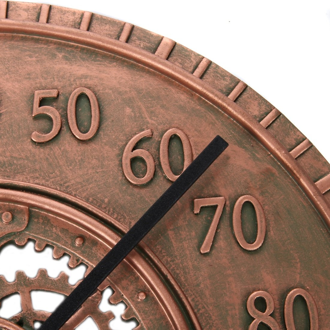 Lily's Home Hanging Wall Thermometer, Steampunk Gear and Cog Design with a Bronze Finish, Ideal for Indoor or Outdoor Use, Poly-Resin (13 Inches Diameter) by Lilyshome (Image #5)