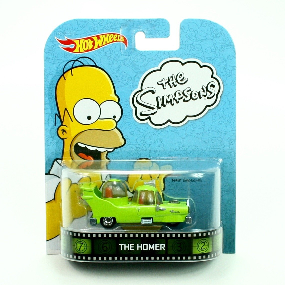 THE HOMER from the classic animated series THE SIMPSONS * Hot Wheels 2013 Retro Series * 1:64 Scale Die Cast Vehicle