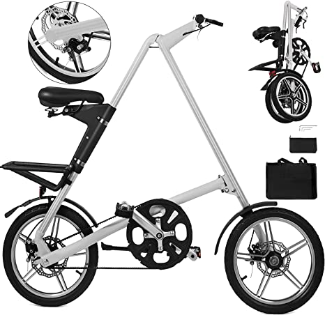 Happybuy Bicicleta Plegable Ligera para Adultos, Bicicleta ...