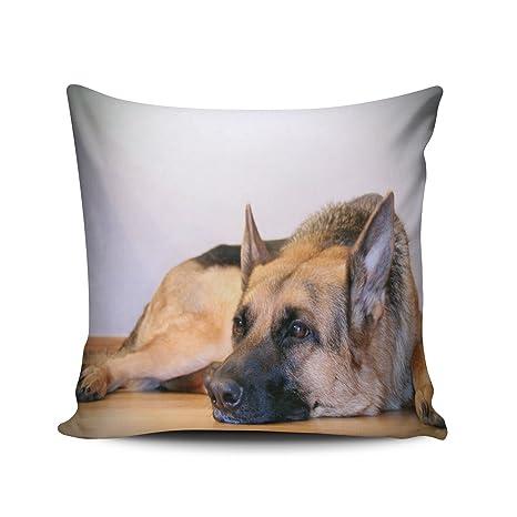 zedae decorativa perro pastor alemán Perro cuadrado fundas de almohada divertido personalizado manta fundas de almohada