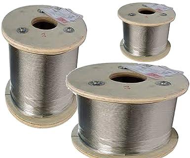 100 m de cable de alambre de acero inoxidable en bobinas ...