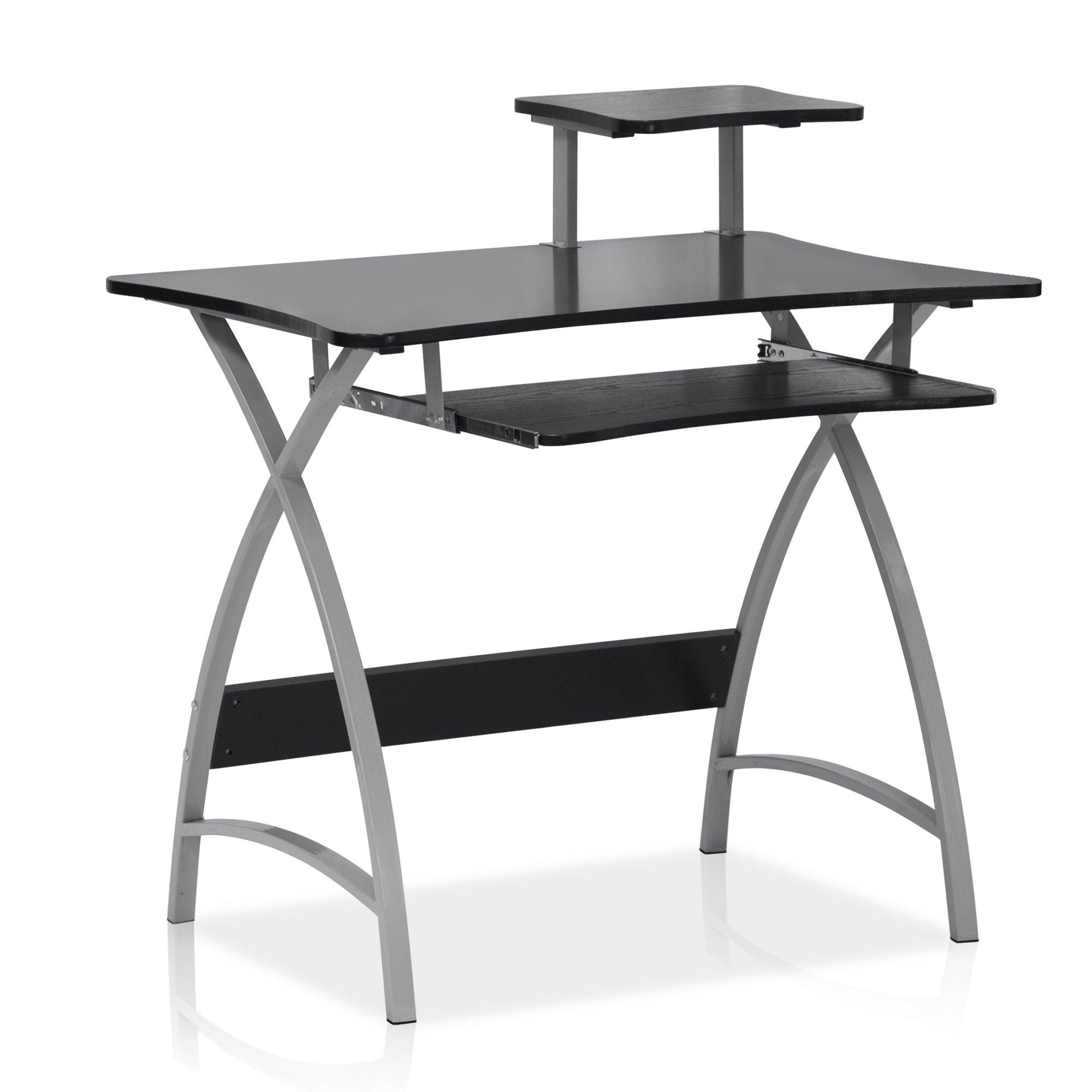 Furinno FNBL-22005BK Besi New Office Computer Desk