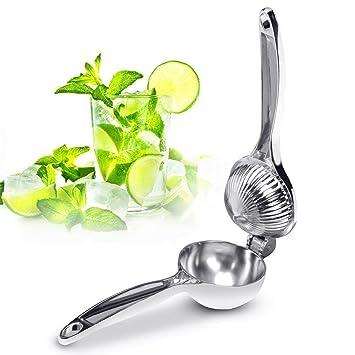 Exprimidor de limones inoxidable - Toproad limón exprimidor manual de cal exprimidor licuadora profesional extractor de jugo: Amazon.es: Hogar
