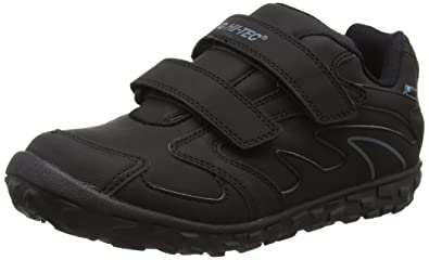 Hi-Tec Meridian Low EZ - Zapatillas de Running Unisex Niños, Negro (Black 021), 38