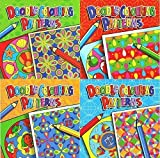 Set of 4 Childrens Doodle Colouring Pattern Books 4040