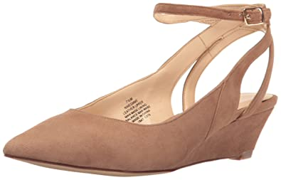 Nine West Women's Esmme Suede Dress Pump, Natural, ...