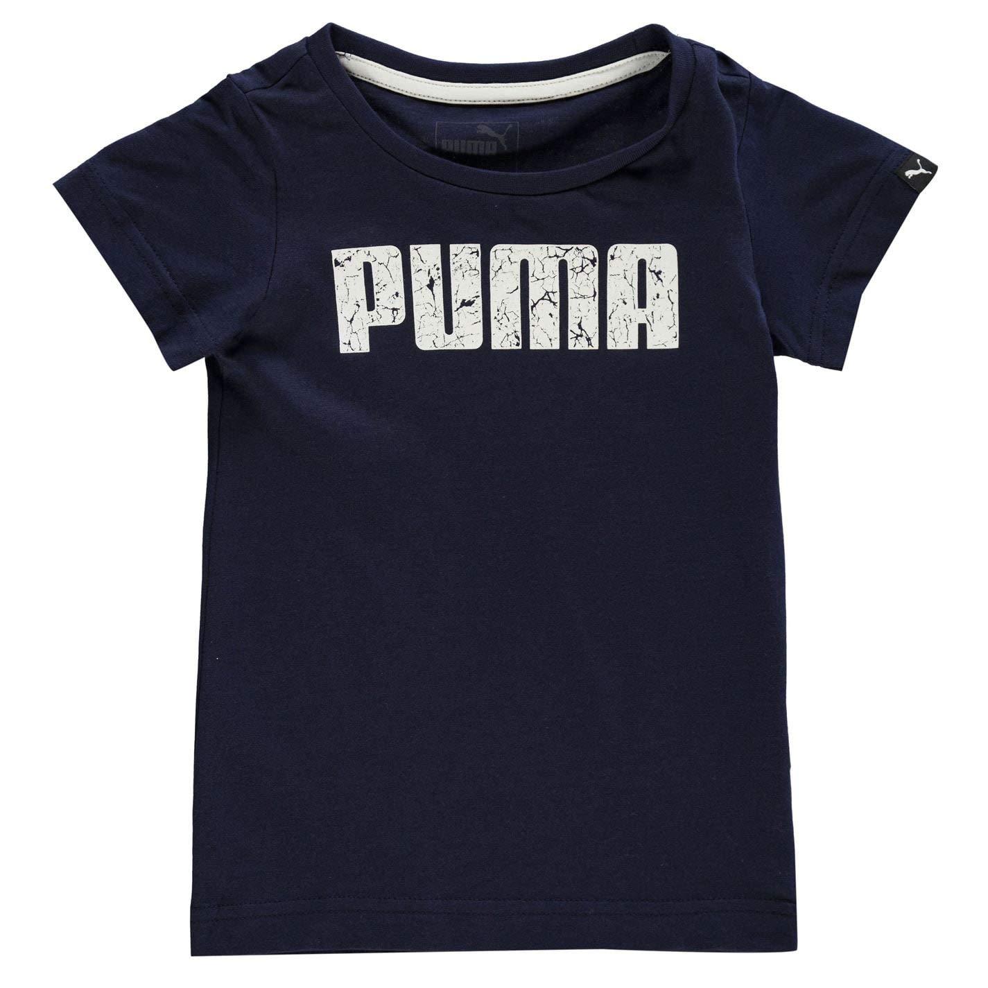 PUMA Ragazzo Logo T Shirt Maglietta Manica Corta Girocollo