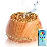 YOUNGDO Difusor de Aceites Esenciales 400ML, Difusor Aromaterapia de 7 Colores LED, Humidificador Ultrasónico con…