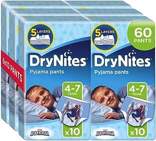 Drynites Mutandine Assorbenti per la Notte da Bambino, 17-30 Kg, 6 Confezioni da 10 Pezzi