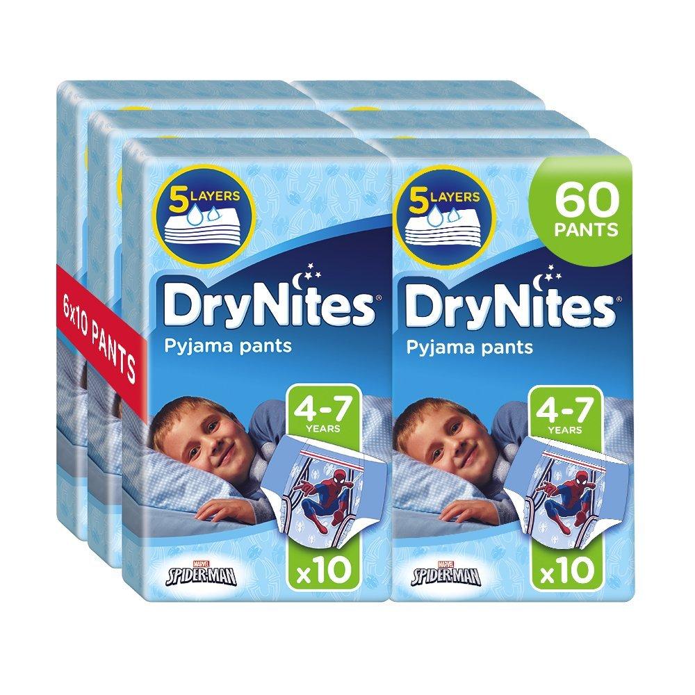 Drynites Mutandine Assorbenti per la Notte da Bambino, 17-30 Kg, 6 Confezioni da 10 Pezzi Kimberly Clark 2141081 02141081