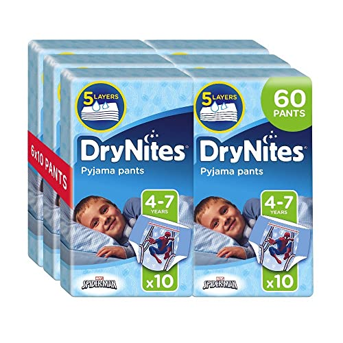 Huggies DryNites Pyjama Pants for Boys, Age 4-7 (60 Pants Total)