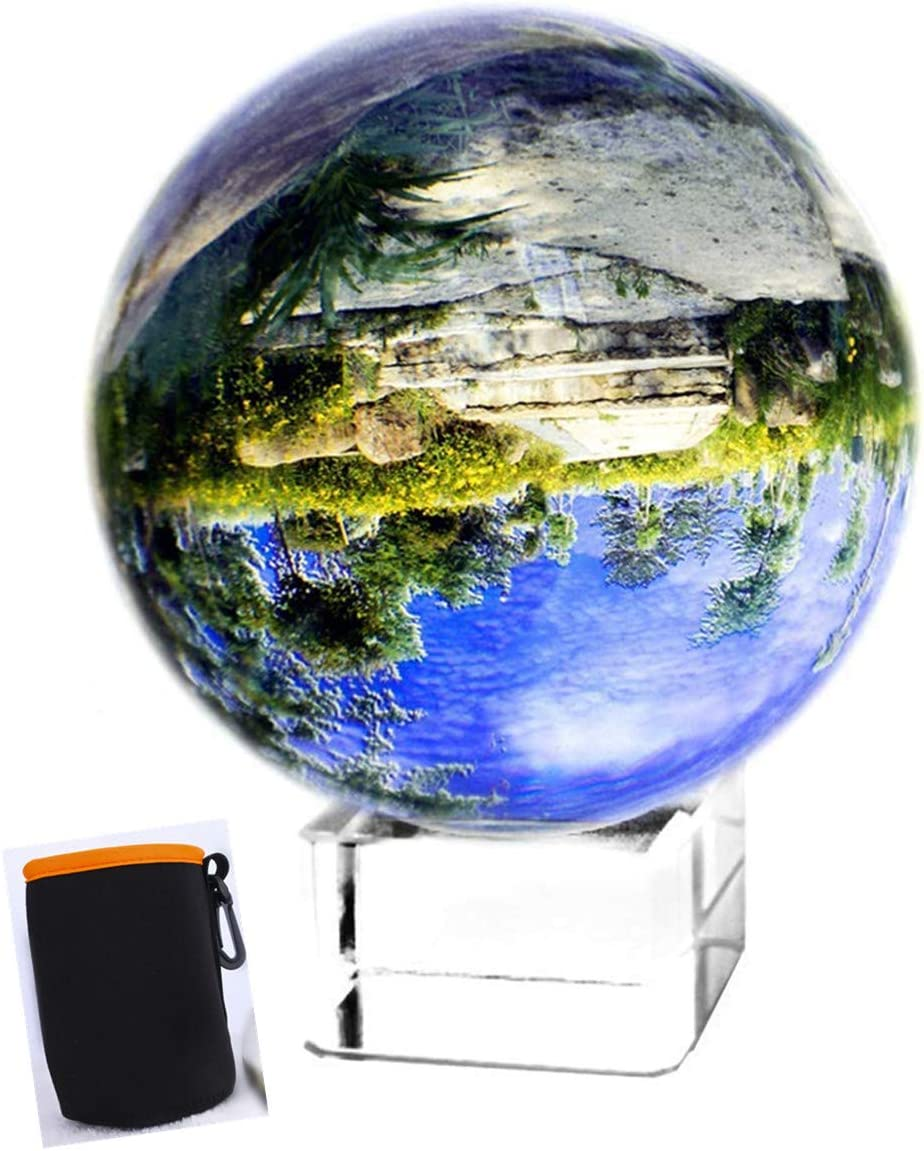 Amazon Com H D 80mm Clear Crystal Ball Photography Lensball Photography Glass Ball Photography Crystal Ball Decor Photography Ball With Free Crystal Stand Furniture Decor