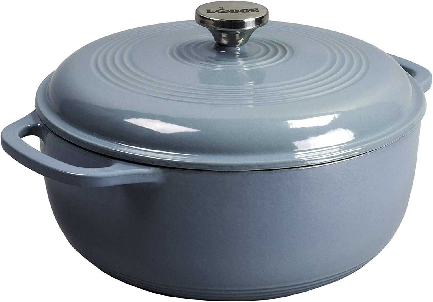 Lodge EC6D34 Enameled Dutch Oven, 6 Qt, Storm Blue