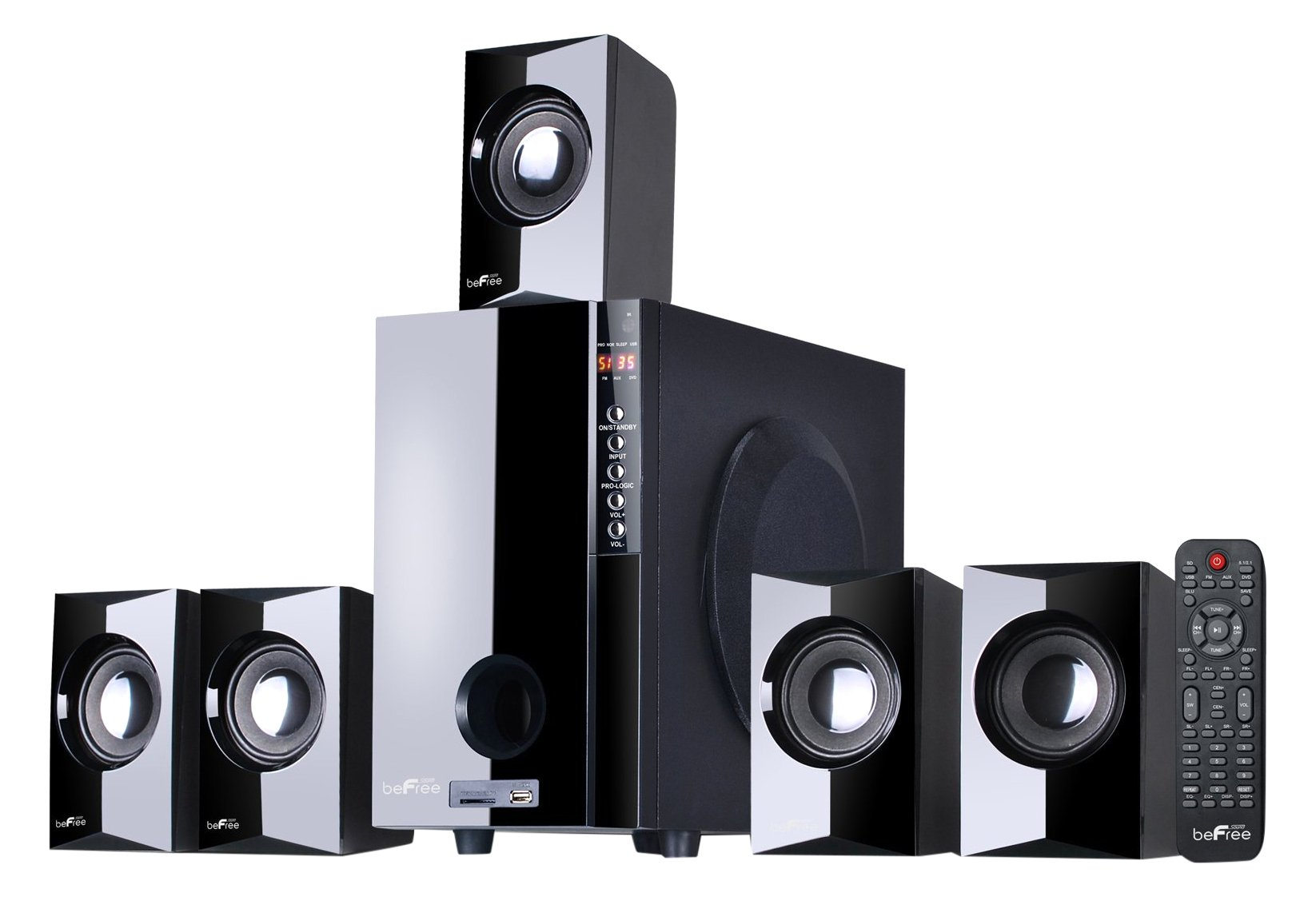 beFree Sound BFS-430 Surround Sound Home Stereo Speakers by BEFREE SOUND