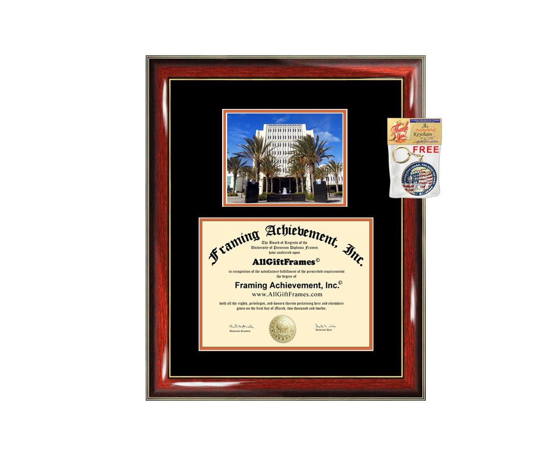 California State University Fullerton Diploma Frame CSUF Graduation Degree Frame - Matted Campus College Photo Graduation Certificate Plaque University Framing Graduate Gift Case Holder