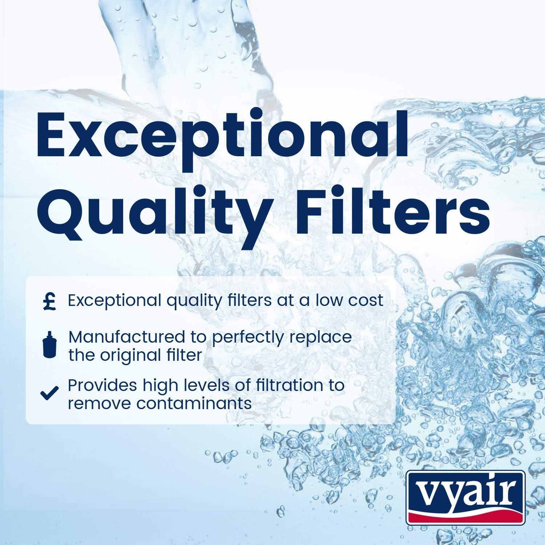 2 Vyair VYR-12A Ice /& Water Refrigerator Filter to fit Daewoo Aqua Crystal DW2042FR-09 DW2042FR09 DW2042F-09 FRNY225D2V FRNY22D2V FRNY22D2W FRNY22F2VI 3019986700 5045179021208