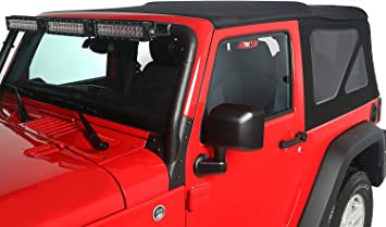 Amazon Com Rugged Ridge 13737 35 Soft Top Black Diamond Vinyl
