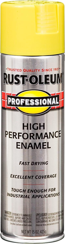 Rust-Oleum 239110 Professional Spray Paint, Gloss Sunburst Yellow, 15-Ounce