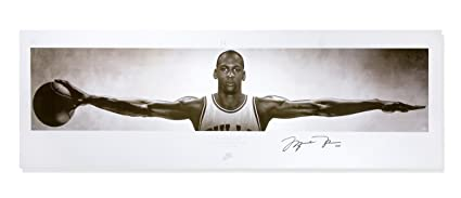 """new product 8bfc8 2ecbd Michael Jordan Autographed Chicago Bulls """"Nike Wings Concept  Poster"""" Unframed"""
