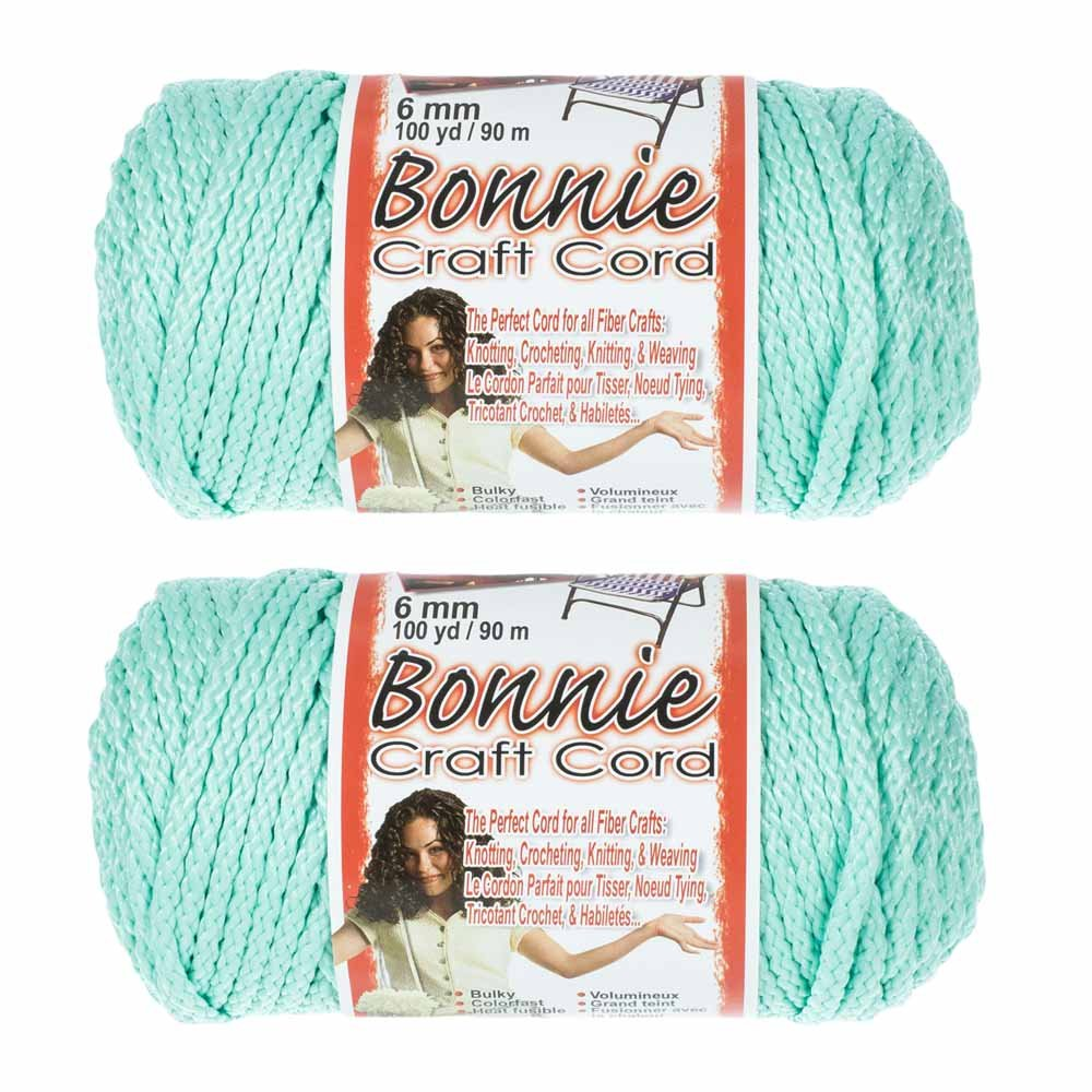 6mm 100 Yard Lengths 2 Pack Bonnie Macram/é Cord Royal Blue